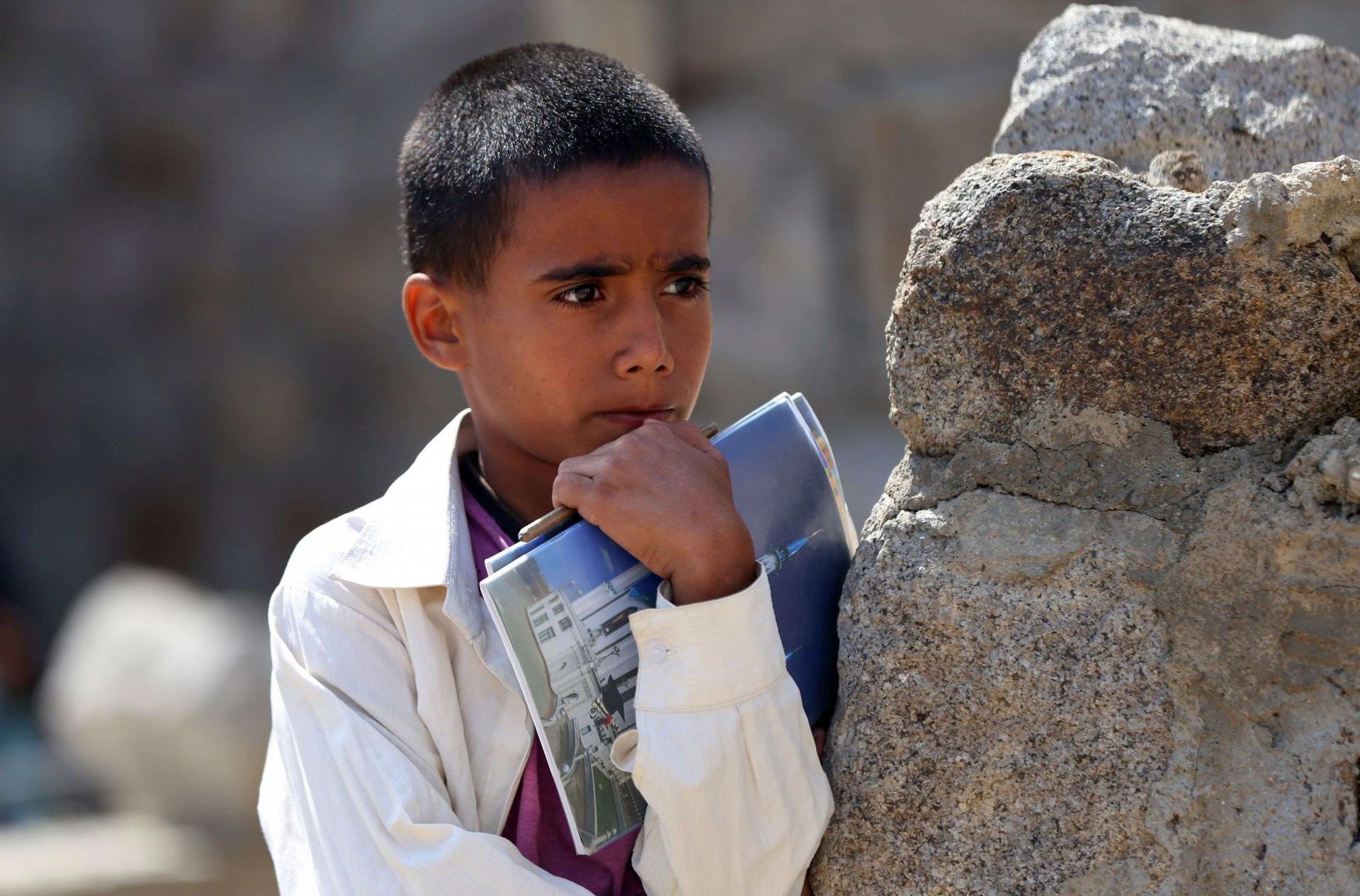 أطفال اليمن محرومون من الدراسة في الهند