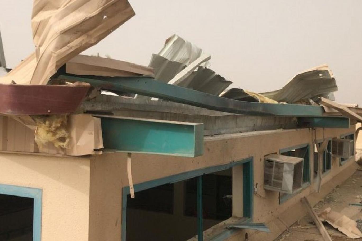 طائرة مفخخة تسقط على مدرسة جنوب السعودية